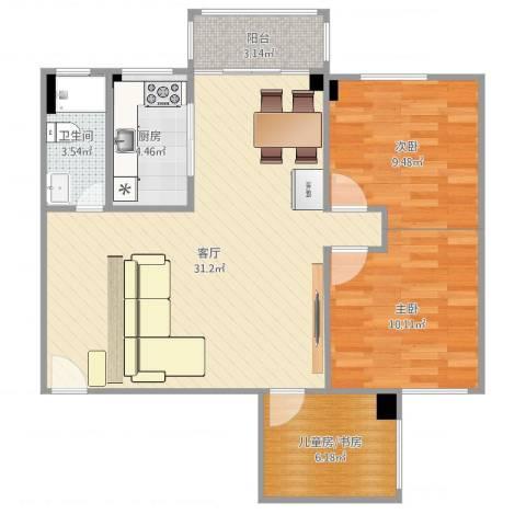 康怡苑2室1厅1卫1厨85.00㎡户型图