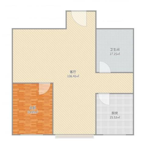罗曼・松鼠湾1室1厅1卫1厨290.00㎡户型图