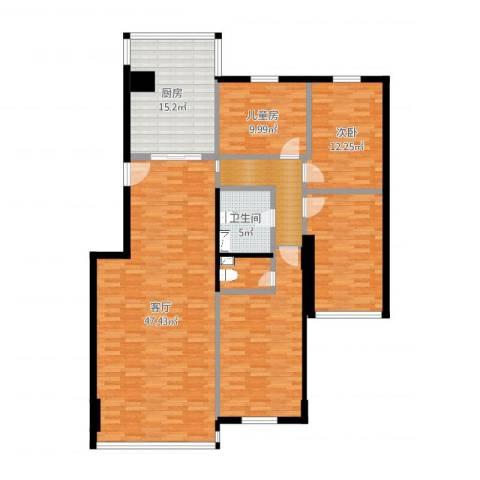 太阳城2室1厅1卫1厨162.00㎡户型图