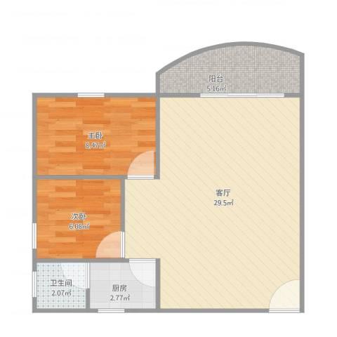瑞丽花园荟雅阁D座7032室1厅1卫1厨73.00㎡户型图