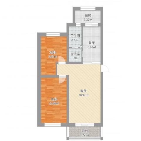 文荟小区2室4厅1卫1厨74.00㎡户型图