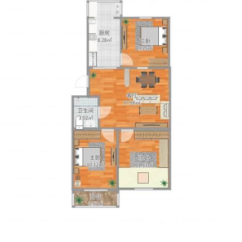 东关南里2室1厅1卫1厨79.00㎡户型图