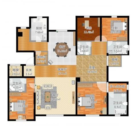 远洋天著4室2厅6卫1厨250.00㎡户型图
