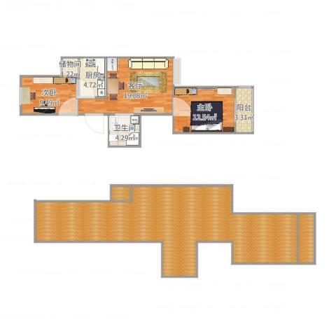 金福苑2室1厅1卫1厨154.00㎡户型图