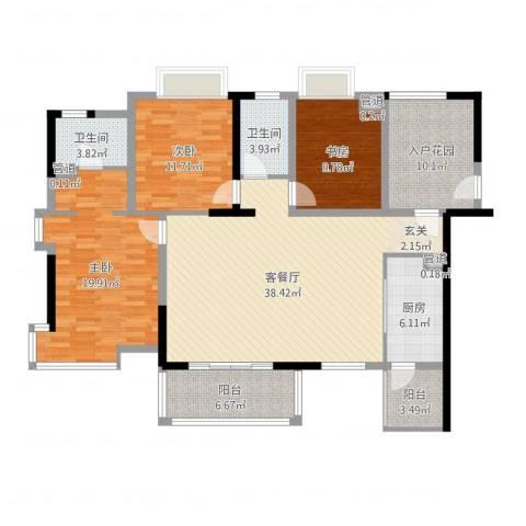 桑菊家园3室2厅2卫1厨143.00㎡户型图