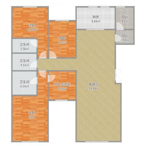 远洋天著3室2厅3卫1厨171.00㎡户型图