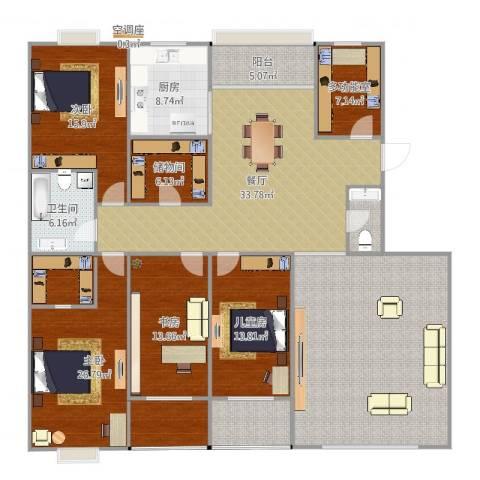 双水湾名门5室1厅2卫1厨226.00㎡户型图