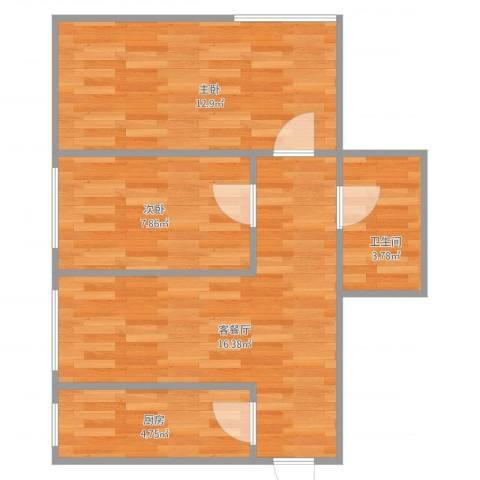 宏发长岛2室2厅1卫1厨49.79㎡户型图