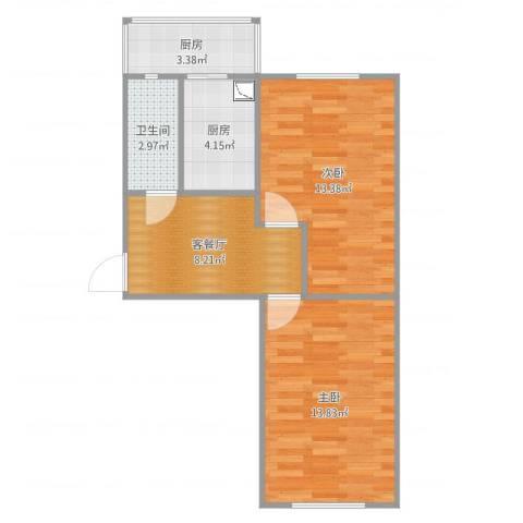 迎风里2室2厅1卫2厨45.92㎡户型图
