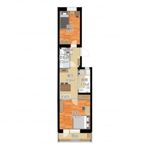 太平庄南里2室1厅1卫1厨50.00㎡户型图