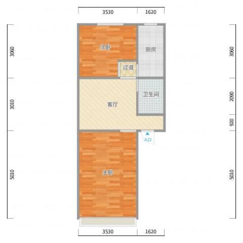 学院南路60号院5号楼两居室01户型