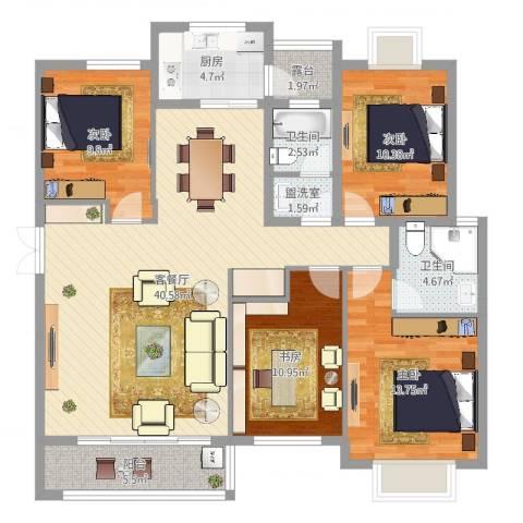 联丰世纪苑4室2厅2卫1厨133.00㎡户型图
