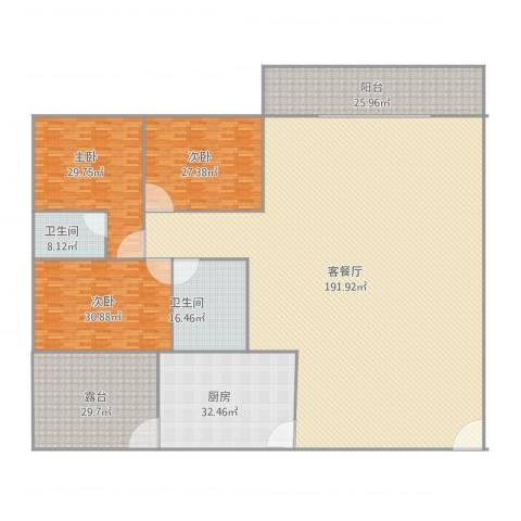 豪兴苑3室2厅2卫1厨509.00㎡户型图