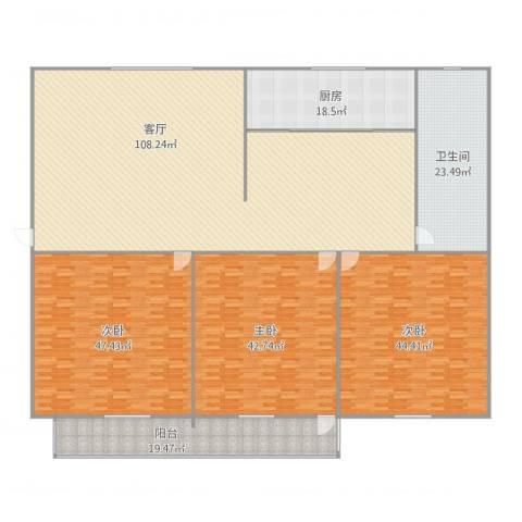 华林都市家园3室1厅1卫1厨396.00㎡户型图