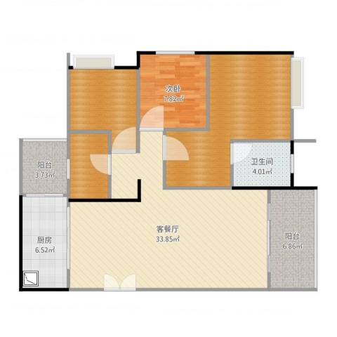 光华可乐小镇1室2厅4卫1厨113.00㎡户型图