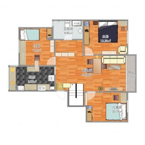古城新境53室2厅1卫1厨103.00㎡户型图