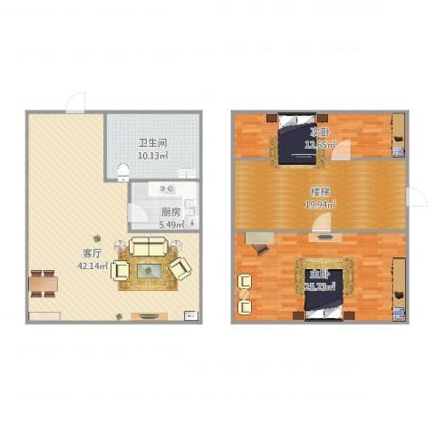 南方国际2室1厅1卫1厨153.00㎡户型图