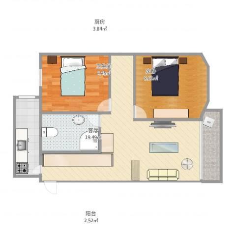 国联大厦1室1厅1卫1厨60.00㎡户型图
