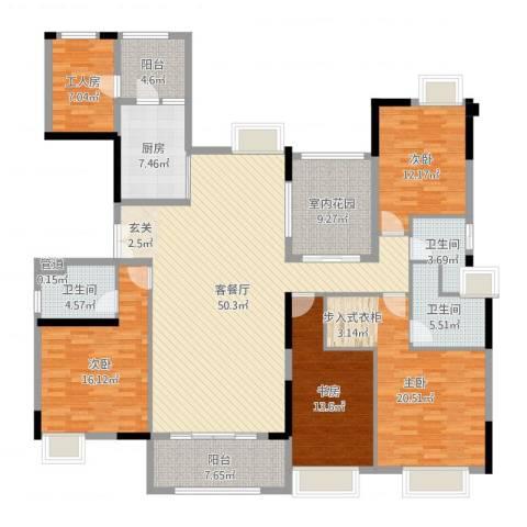 中海文华熙岸4室2厅3卫1厨203.00㎡户型图