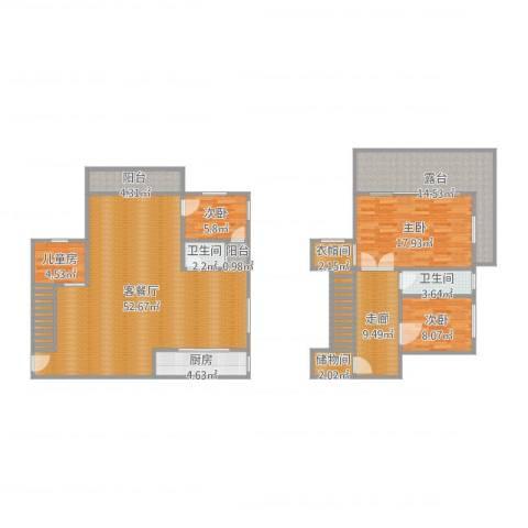 滨海森林4室2厅2卫1厨170.00㎡户型图