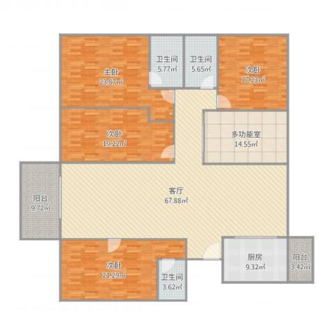 中海文华熙岸4室1厅3卫1厨252.00㎡户型图