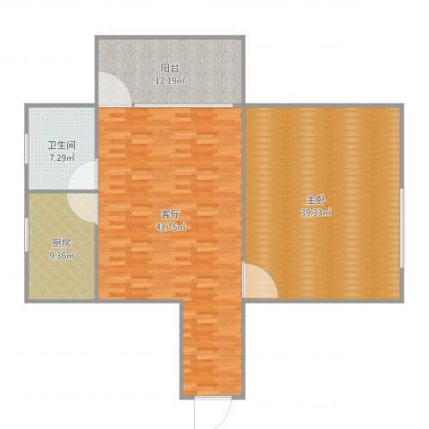 福盛花苑G-2111室1厅1卫1厨147.00㎡户型图