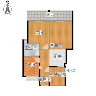 氧立方森林公馆90.00㎡A2户型2室1厅1卫-副本