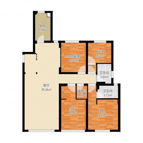 佳兆业・水岸新都2室1厅4卫1厨133.00㎡户型图