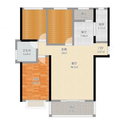 三和公寓1室1厅1卫1厨135.00㎡户型图