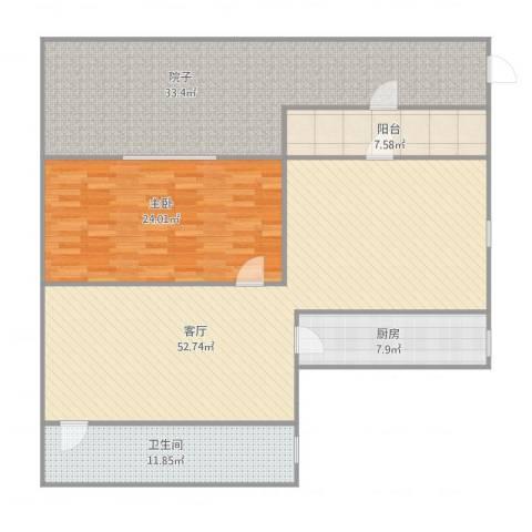 夏家桥118号1室1厅1卫1厨182.00㎡户型图