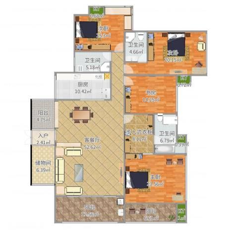依云上城4室2厅3卫1厨243.00㎡户型图