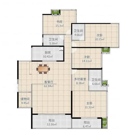 依云上城4室2厅7卫1厨242.00㎡户型图