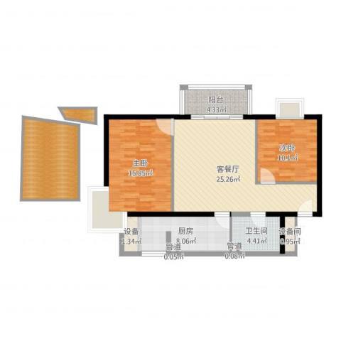 丽都东镇滨河1号别墅2室3厅3卫2厨103.00㎡户型图