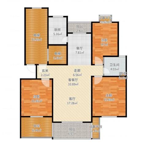 嘉定颐景园3室2厅1卫1厨139.00㎡户型图