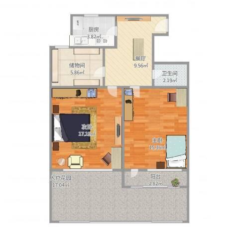 东南二村2室1厅1卫1厨100.00㎡户型图