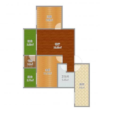 新界一号3室1厅1卫1厨81.00㎡户型图