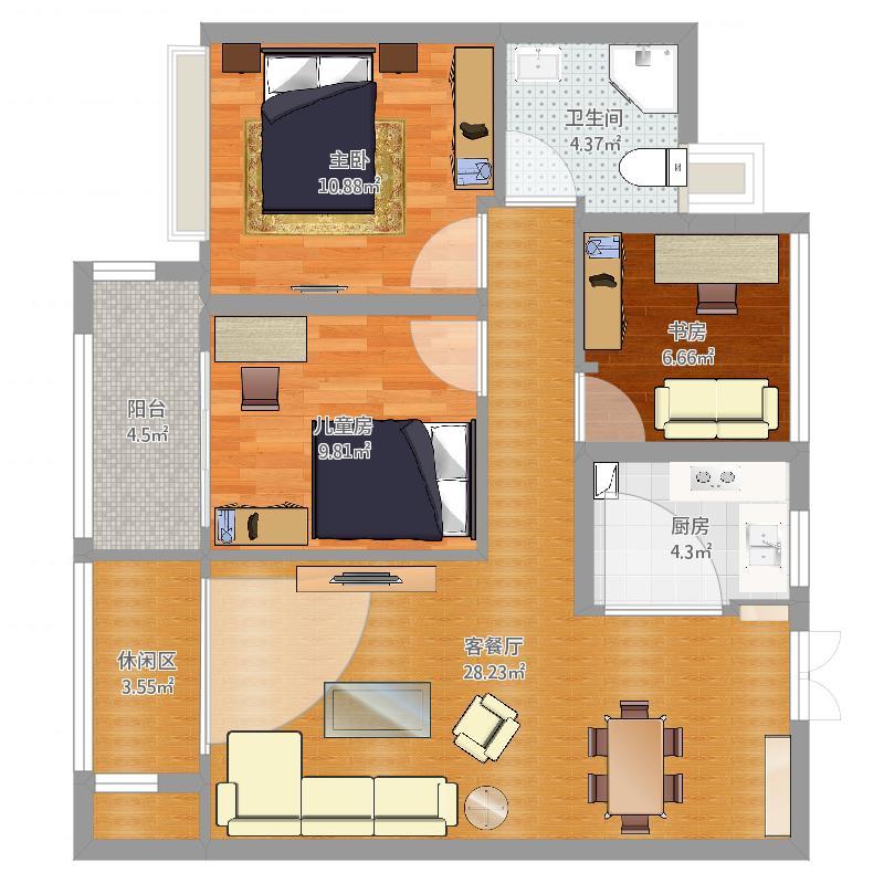 杭州金地乐享湾14幢1单元1302室