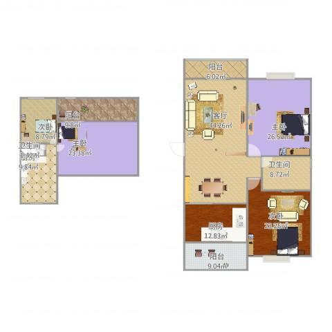 西凌家宅4室1厅2卫2厨244.00㎡户型图