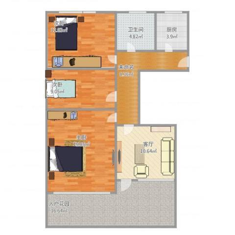 吴中东路500弄小区2室1厅1卫1厨98.00㎡户型图