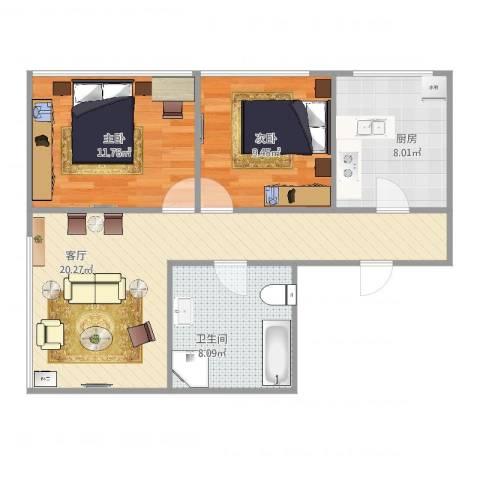 白领尊邸C22室1厅1卫1厨78.00㎡户型图