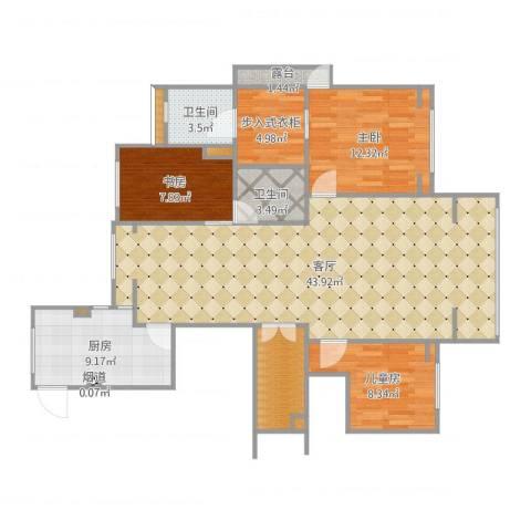 凡尔赛观邸3室1厅8卫2厨126.00㎡户型图