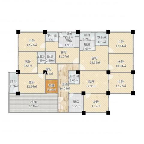 新华大厦7室4厅4卫4厨265.00㎡户型图
