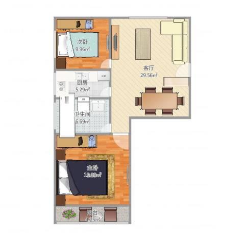 清涧三街坊19号20062室1厅1卫1厨100.00㎡户型图