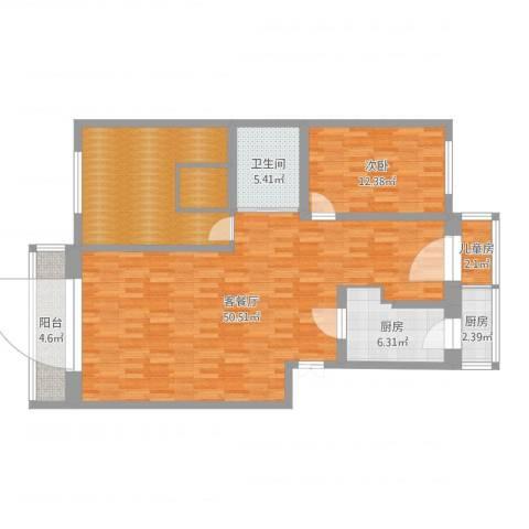 滨河小区2室2厅1卫2厨122.00㎡户型图