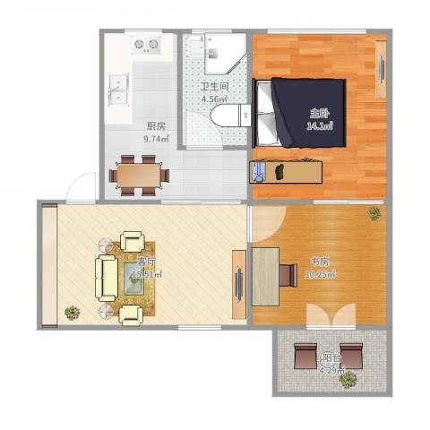 平阳四街坊2室1厅1卫1厨63.17㎡户型图