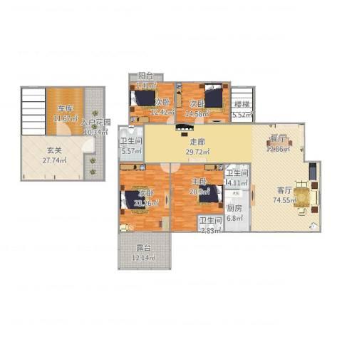康桥半岛城中花园4室1厅3卫1厨311.00㎡户型图