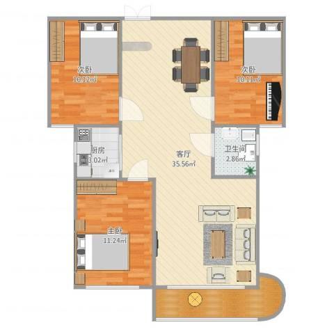 幸福花园4室1厅1卫1厨98.00㎡户型图