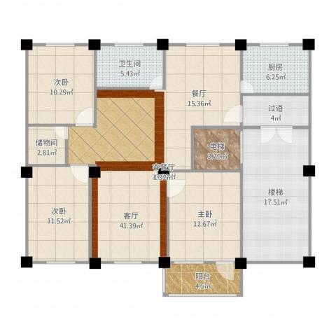 新华大厦3室1厅1卫1厨150.00㎡户型图