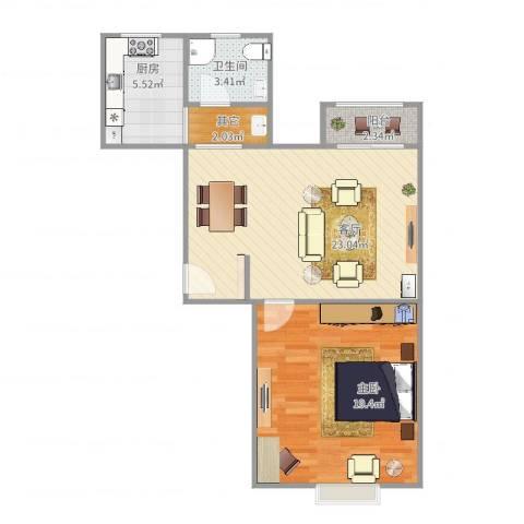 和源祥邸珑庭1室1厅1卫1厨75.00㎡户型图