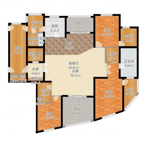 徐汇中凯城市之光3室2厅4卫1厨279.00㎡户型图
